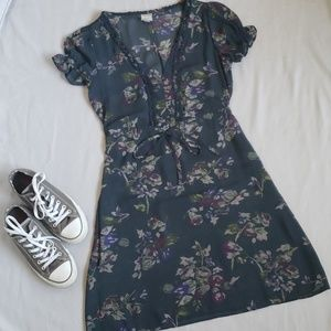 Converse One Star Sheer Floral Dress